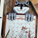 Raccoon Calendar Topper - Plastic Canvas Pattern