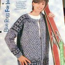 Blue Ragg - Fair Isle - Knit Norwegian Unisex Sweater Pattern - NEW