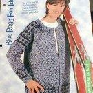 Blue Ragg - Fair Isle - Knit Norwegian Unisex Sweater Pattern - NEW