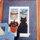 Cat in the Window and Vanity Florals - Loose Plastic Canvas Patterns