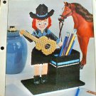 Cowgirl Pencil Cup - Plastic Canvas Pattern