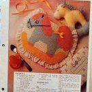 Rocking Horse Bib -  Plastic Canvas Pattern in MINT Condition