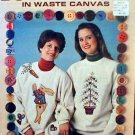 Buttoned-Up in Waste Canvas - Cross Stitch in MINT Condition