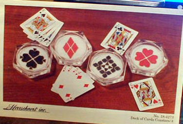 Herrschners Inc. - Deck of Cards Coasters - Cross Stitch