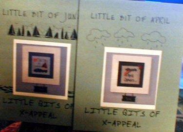 Little Bit of April and Little Bit of June - Cross Stitch Patterns