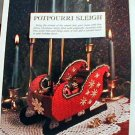 Potpourri Sleigh and Festive Touches- Loose Plastic Canvas Patterns