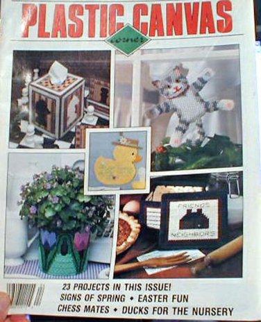 Plastic Canvas Corner - April 1991
