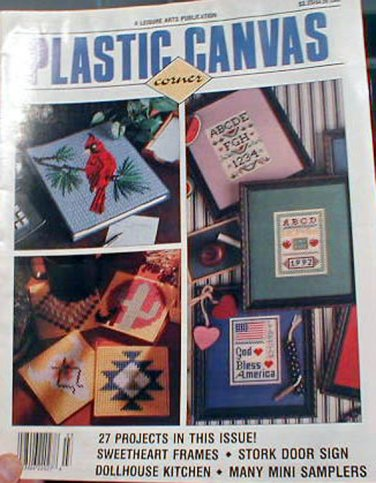 Plastic Canvas Corner - March 1992