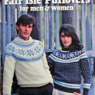 Fair Isle Pullovers for Men & Women - Knit Patterns