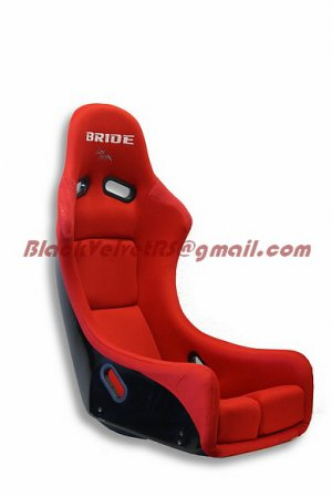 Bride Zieg Bucket Racing Seats Red SINGLE