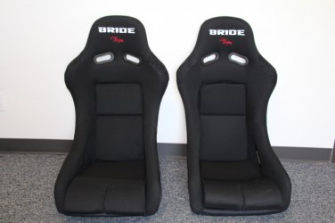 Bride Vios III Black Cloth FRP PAIR Racing Seat