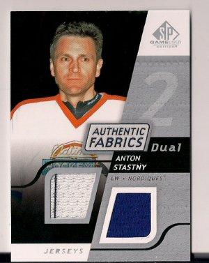 2008-09 SP Game Used Anton Stastny Authentic Fabrics