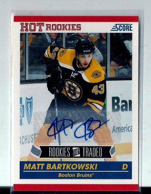 2010-11 Score Matt Bartkowski Auto