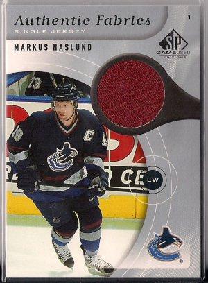 2005-06 SP Game Used Markus Naslund Authentic Fabrics