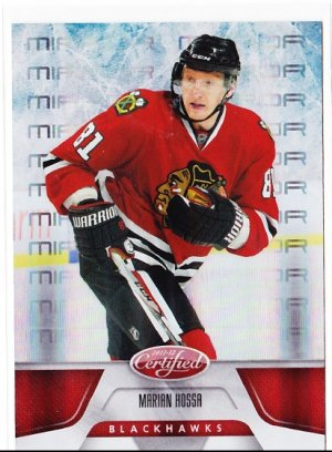 2011-12 Panini Certified Mirror Red Parallel Marian Hossa /199