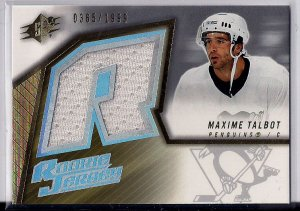 2005-06 SPX Rookie Jersey Maxime Talbot /1999