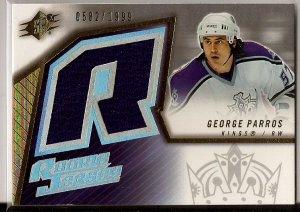 2005-06 SPX Rookie Jersey George Parros