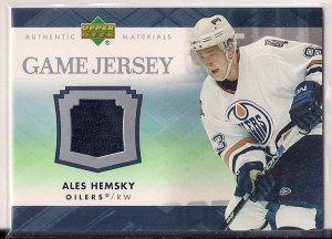 2007-08 Upper Deck Series 1 UD Game Jersey Ales Hemsky