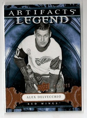 2009-10 Artifacts Legend Alex Delvecchio /999