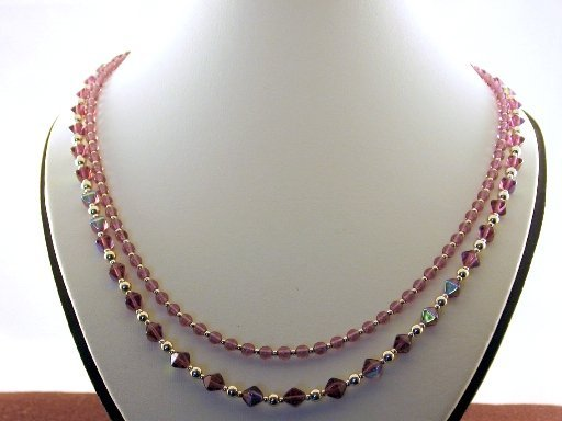 Two Strand Amethyst Necklace