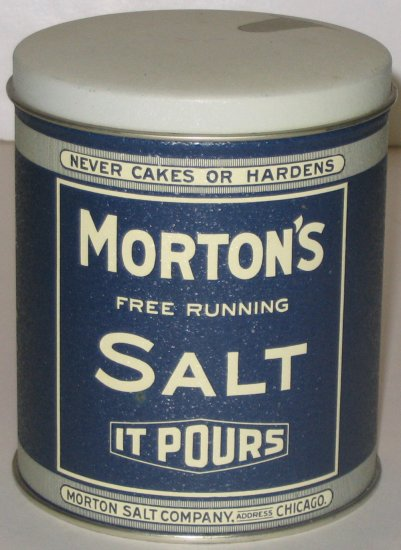 """Morton's Salt"" Tin"