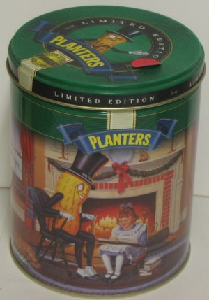"""Planter's Peanuts Christmas 1997 Tin"