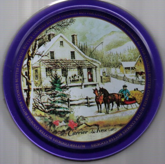 Currier & Ives Butter Cookies Tin