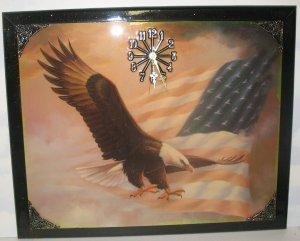 """Spread Winged Eagle in Flight"" Picture Clock"