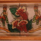 """""""Hummingbirds & Flowers"""" Framed Glass Picture"""