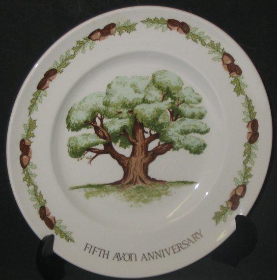 """The Great Oak"" Fifth Anniversary Avon Plate"