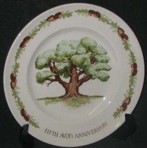 """The Great Oak"" Fifth Anniversary Avon Plate"