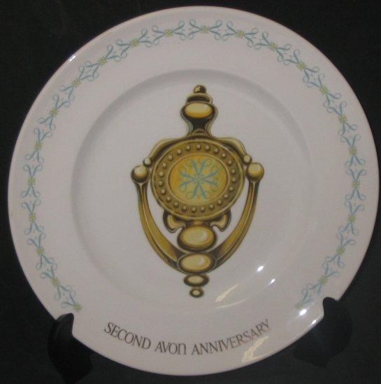 "Second Avon Anniversary ""Doorknocker"" Plate"