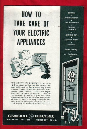 """How to Take Care of Electric Appliances"""