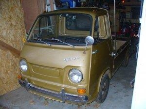 1969 Subaru 360 Pickup truck. A Subaru 360 collectors dream.