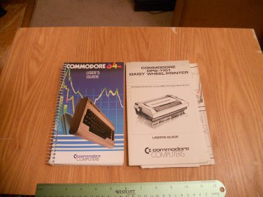 Commodore users manual and commodore daisy wheel printer manual