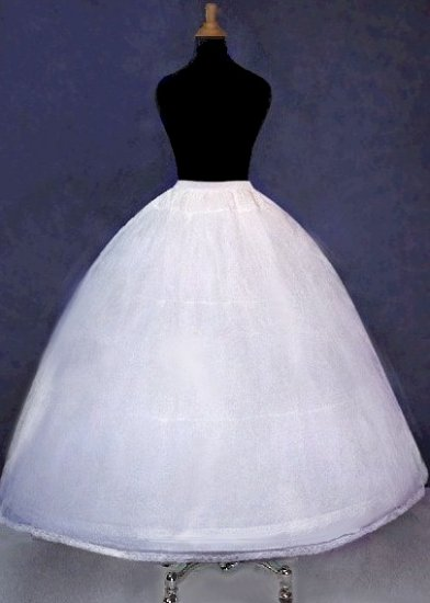 3-Hoop Full Bridal Wedding Dress Gown Crinoline Petticoat Slip Skirt Cp3b