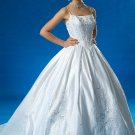 BRAND NEW ASPIRING BLUE EMBROIDERED WEDDING DRESS BRIDAL GOWN SIZE 14