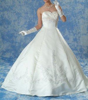 NEW DESIGNER'S INSPIRED WHITE WEDDING DRESS BRIDAL GOWN SIZE 16