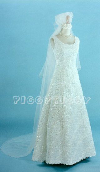 BNWT DELICATE HAND-MADE SEQUIN WEDDING GOWN DRESS SIZE 18