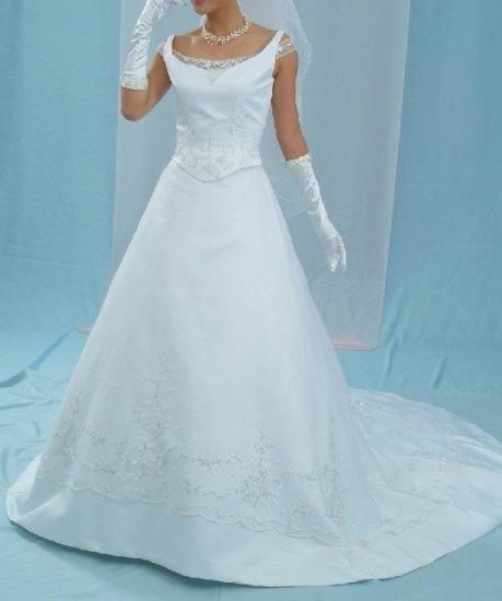 NEW 2-PIECE SPECTACULAR WEDDING BRIDAL GOWN DRESS SIZE 16