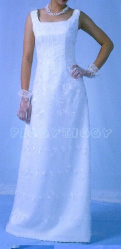 NEW ROMANTIC DELICATE FEMININE SHEATH WEDDING GOWN SIZE 14