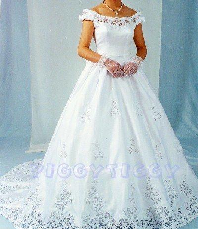 NEW OUTRAGEOUS PORTRAIT WEDDING GOWN BRIDAL DRESS SWAROVSKI CRYSTALS SIZE 12