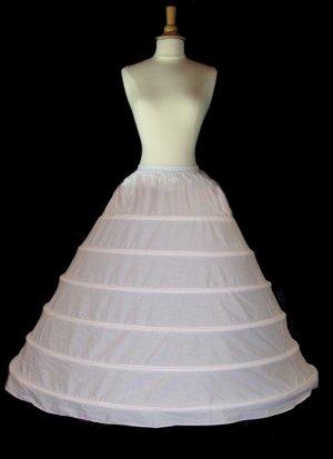 Huge 6-Hoop Cotton Bridal Gown Wedding Dress Crinoline Petticoat Slip Skirt Cp6hc