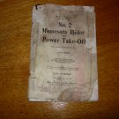 MINNESOTA NO 2 BINDER & POWER TAKE OFF INSTRUCTION TION AND PARTS MANUAL