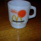 VINTAGE FIRE KING McDONALDS GOOD MORNING MUG