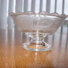 Canton Glass Co Swan Pattern Footed Sauce Dish EAPG
