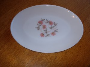 Anchor Hocking Fire King Fleurette Serving Platter
