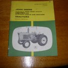 John Deere 3020 Row-Crop Tractor Operators Manual