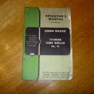 Original John Deere No 71 Cylinder Corn Sheller Operators Manual