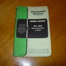 Original John Deere No 594 Side Delivery Rake Operators Manual